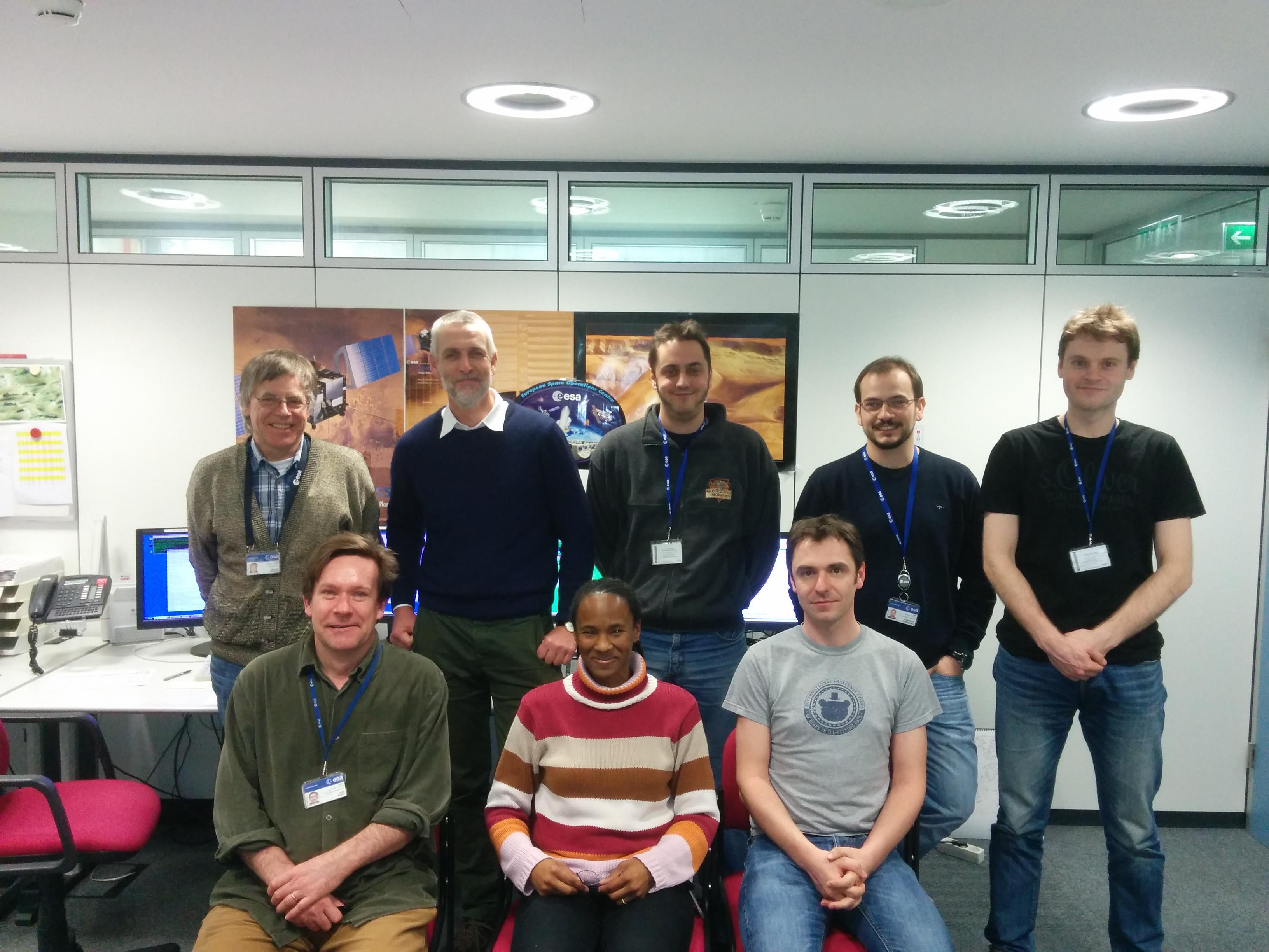 MEX Flight Control Team at ESOC Credit: ESA