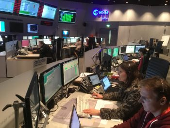 ESA's mission control team in final 'sim' training, 6 October 2016, before ExoMars/TGO and Schiaparelli arrive at the Red Planet, set for 19 October. Credit: ESA