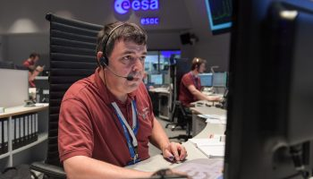 Scenes at ESA/ESOC, Darmstadt, Germany, on 19 October 2016 during the arrival of ExoMars. Credit: ESA/J. Mai