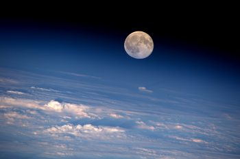 Full Moon seen from the ISS in August 2016 Credit: NASA/Jeff Williams