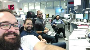Cluster team in the DCR. Credit: ESA