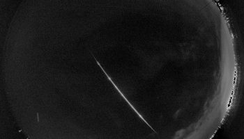 A bright fireball occurred over the Netherlands on 21 Sep 2017 at 19:00 UTC (21:00 CEST). Credit: ESA/D. Koschny/A. Toni/FRIPON team