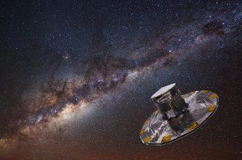 Gaia Credit: ESA/ATG medialab; background image: ESO/S. Brunier