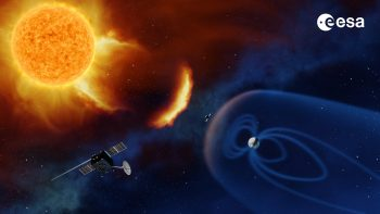 Concept for ESA's future space weather monitoring mission at the Sun. Credit: ESA/A. Baker, CC BY-SA 3.0 IGO