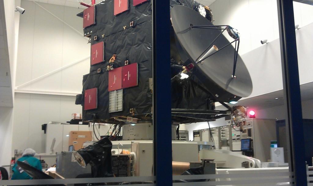 Rosetta engineering model at ESA/ESOC. Credit: ESA