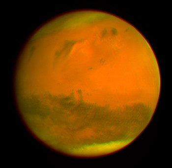 3D Mars, created from Rosetta's 25 February 2007 flyby