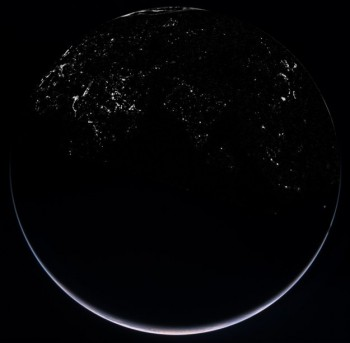 Earth by night, November 2007