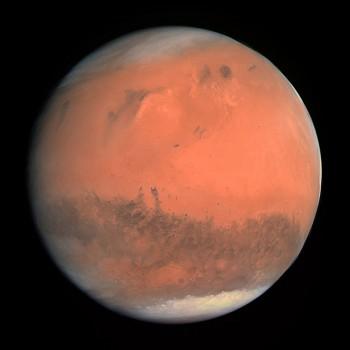 Mars, seen by Rosetta on 24 February 2007.