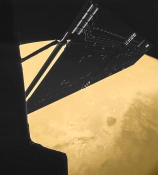 Rosetta mission 'selfie' at Mars
