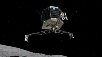 Artist's impression of Philae descending to the surface of comet 67P/CG. Credits: ESA/ATG medialab