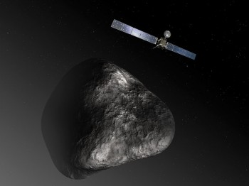 Artist impression of Rosetta at comet 67P/CG. Credits: ESA–C. Carreau/ATG medialab
