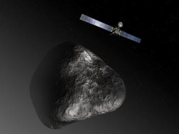 Artist impression of Rosetta at comet 67P/CG. Credits: ESA–C. Carreau/ATG medialab