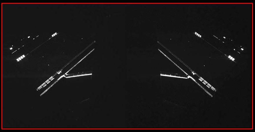 Rosetta's solar panels, by Philae's CIVA imaging system on 14 April 2014. Credits: ESA/Rosetta/Philae/CIVA