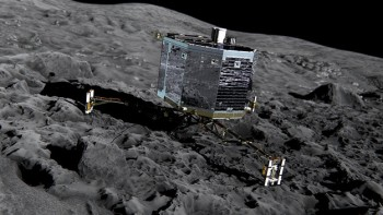 Artist impression of Philae on the surface of 67P/C-G. Credit: ESA/ATG medialab