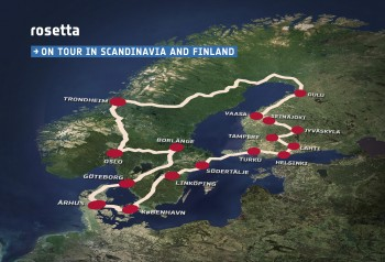 The Rosetta tour truck will visit 16 cities across Finland, Norway, Sweden and Denmark. Credits: ESA