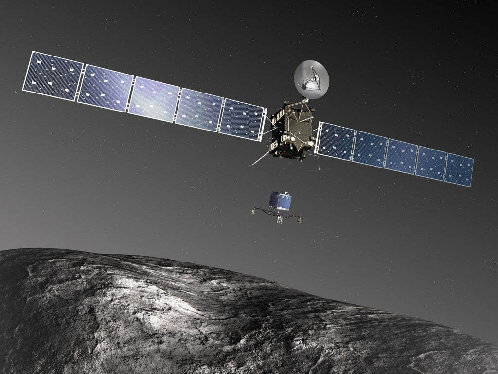 Rosetta & Philae at comet 67P. Credit: ESA–C. Carreau/ATG medialab