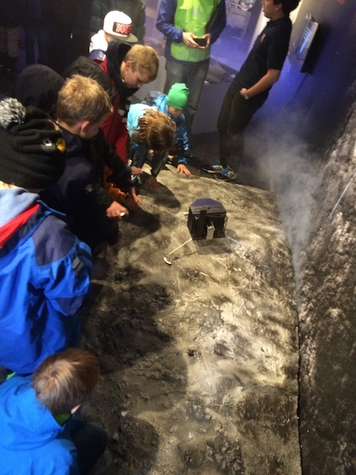 Young visitors learning about comets and the Philae lander (which is a 1:4 scale model of the real Philae)