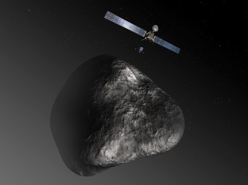 Artist impression of Rosetta and Philae at comet 67P. Credit: ESA–C. Carreau/ATG medialab