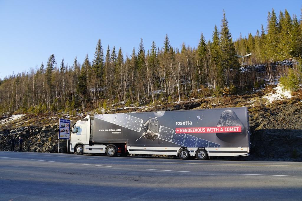 #RosettaTour truck en route to Norway