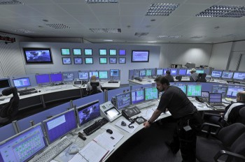 The tracking station control room at the European Space Operations Centre (ESOC) is staffed year-round, 24 hours a day, and provides real-time remote control of all stations in the Agency's worldwide Estrack network. Credit: ESA/J. Mai
