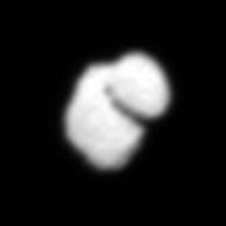 Comet 67P/C-G on 14 July 2014 – processed view. Credits: ESA/Rosetta/MPS for OSIRIS Team MPS/UPD/LAM/IAA/SSO/INTA/UPM/DASP/IDA