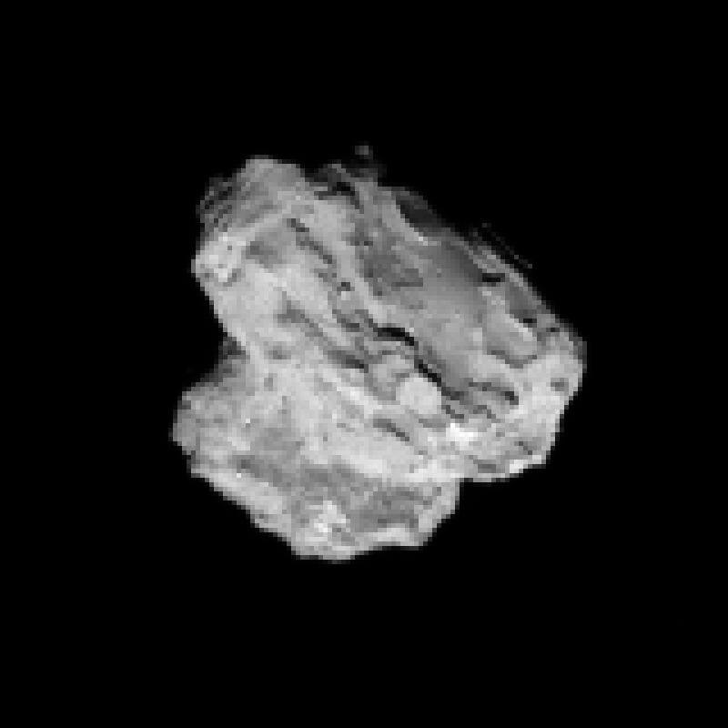 Crop from the 2 August  image of comet 67P/Churyumov-Gerasimenko. Credits: ESA/Rosetta/NAVCAM