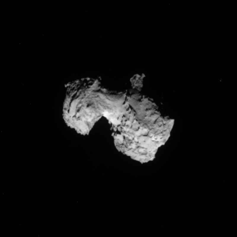 Crop from the 3 August processed image of comet 67P/Churyumov-Gerasimenko. Credits: ESA/Rosetta/NAVCAM