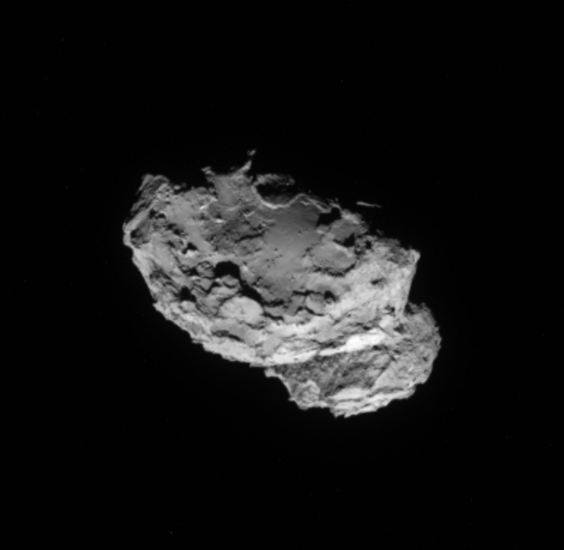 Crop from the 4 August processed image of comet 67P/Churyumov-Gerasimenko. Credits: ESA/Rosetta/NAVCAM