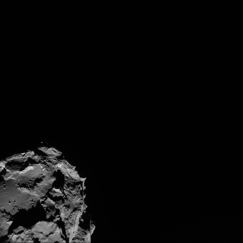 Full frame NAVCAM view of comet 67P/C-G taken on 23 August. Credits: ESA/Rosetta/NAVCAM