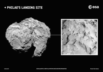 Site J, Philae's primary landing site.