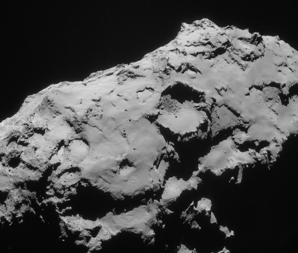 Single frame (and slightly cropped) NAVCAM image taken on 21 September. Credits: ESA/Rosetta/NAVCAM