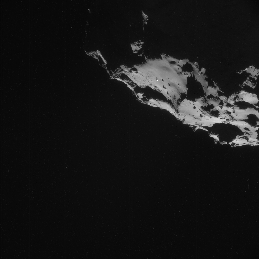 Rosetta spacecraft photographed ufo and towers on comet 67p surface