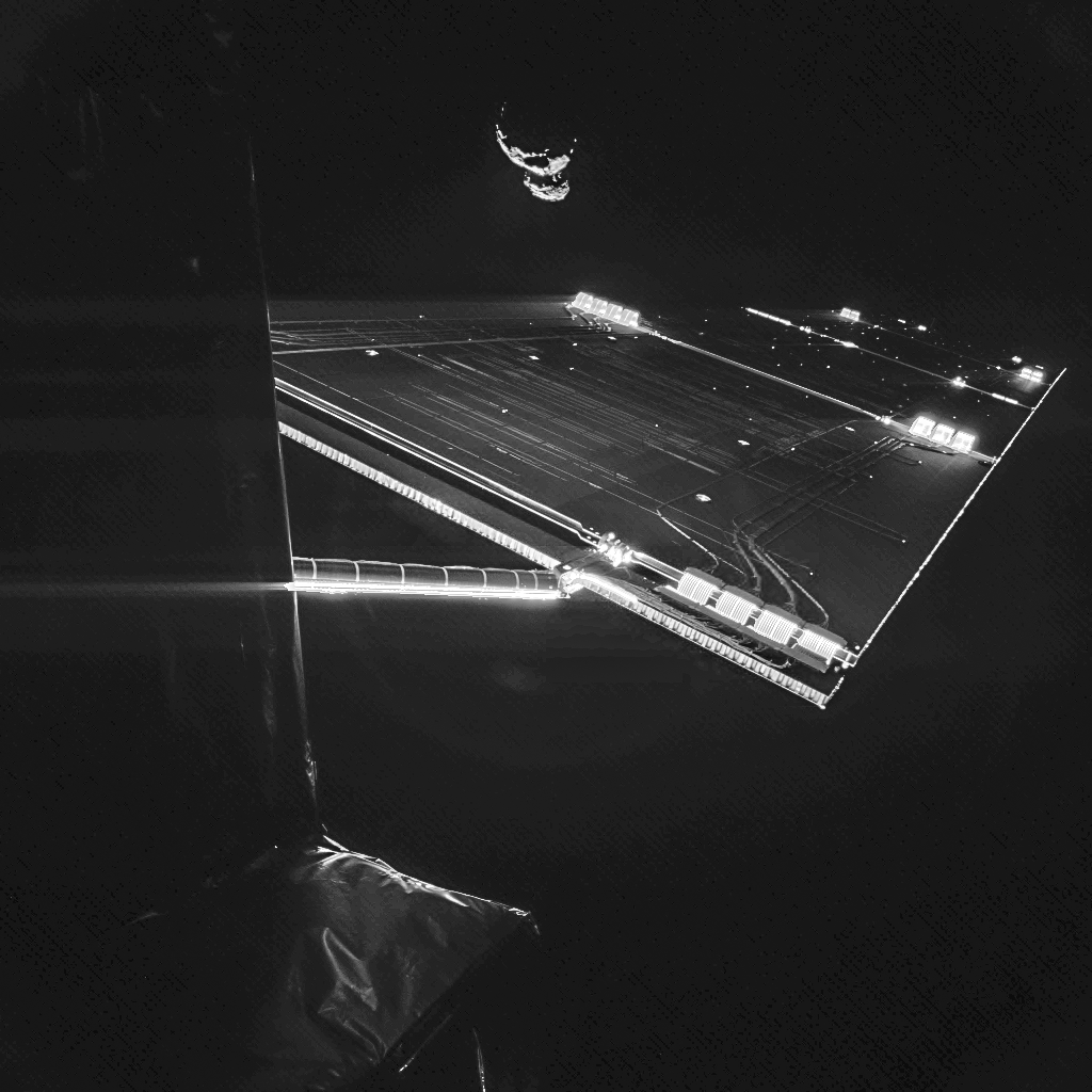 Rosetta mission selfie at comet 67P/C-G, taken on 7 September. Credit: ESA/Rosetta/Philae/CIVA