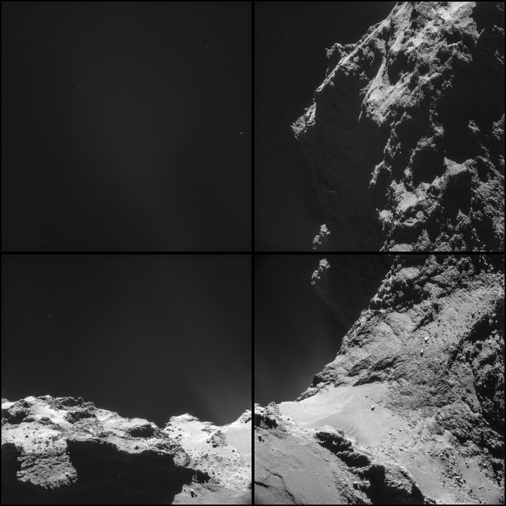 Comet 67P/C-G on 18 October, from a distance of 9.8 km from the centre of the comet.  Credits: ESA/Rosetta/NAVCAM