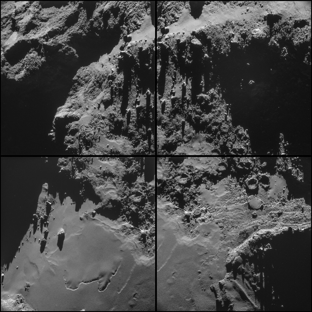 Comet 67P/C-G on 18 October, from a distance of 9.9 km from the centre of the comet. Credits: ESA/Rosetta/NAVCAM