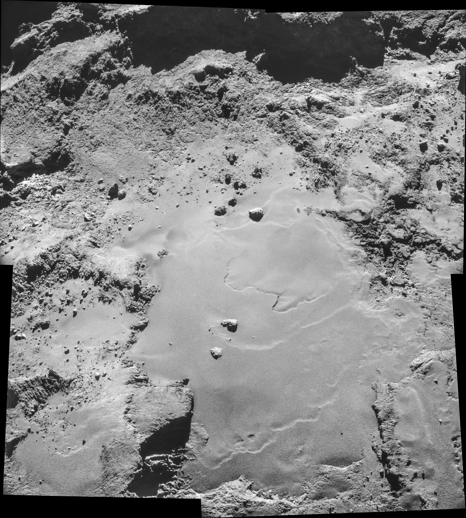 Four image NAVCAM mosaic comprising images taken on 26 October. Credits: ESA/Rosetta/NAVCAM