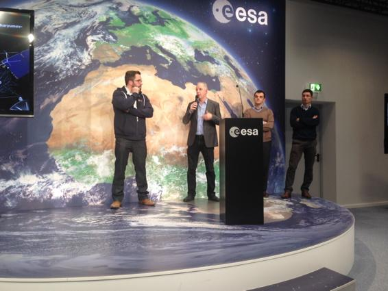 Media briefing at ESOC 10 Nov Credit: BBC/J. Amos