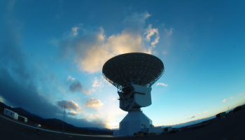 One of the world's most sophisticated satellite tracking stations was inaugurated in Malargüe, Argentina, 1000 km west of Buenos Aires, in December 2012. Credit: ESA