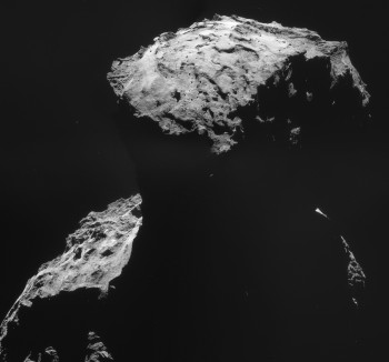 Four-image mosaic of Comet 67P/C-G on 30 October. Credits: ESA/Rosetta/NAVCAM -CC BY-SA IGO 3.0
