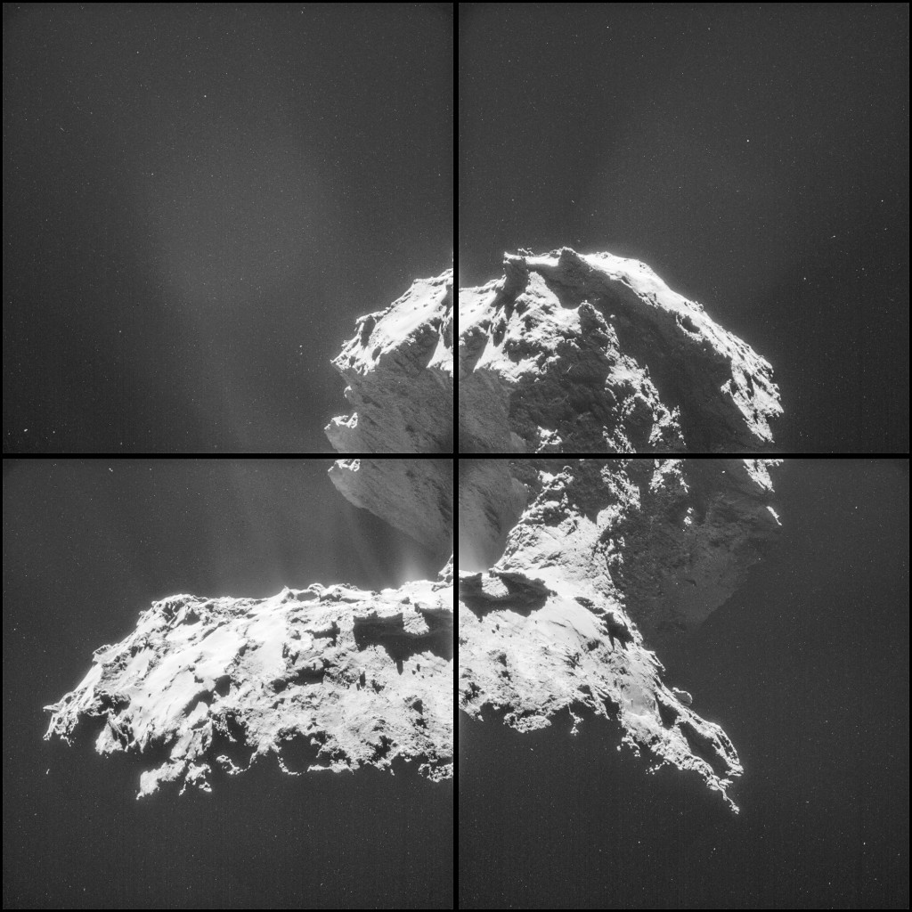 Higher contrast version of the 26 November montage.  Credits: ESA/Rosetta/NAVCAM – CC BY-SA IGO 3.0