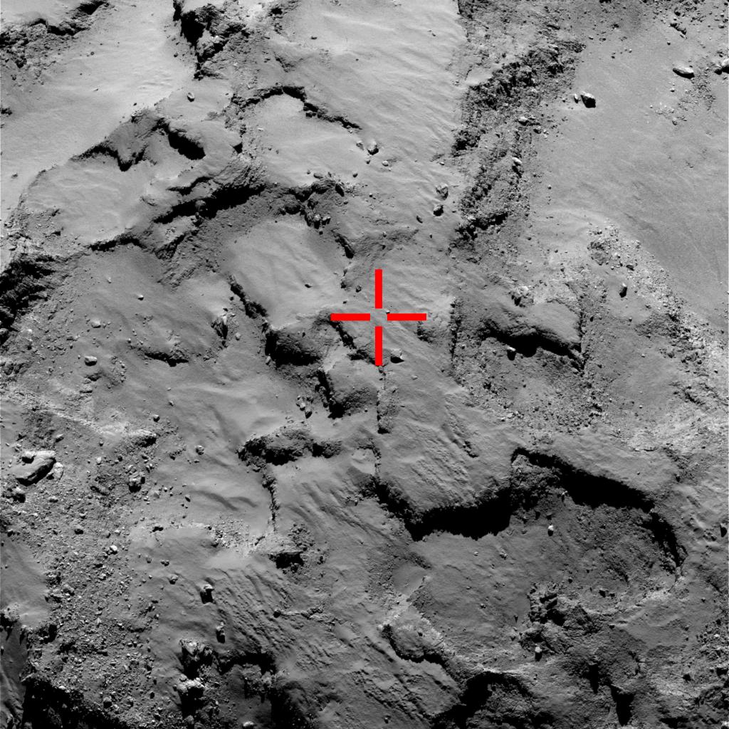 ESA_Rosetta_OSIRIS-NAC_Landing_site_30km