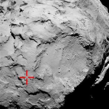 ESA_Rosetta_OSIRIS-NAC_Landing_site_50km