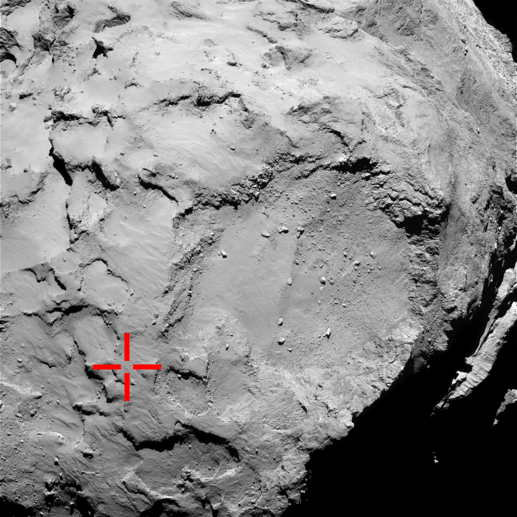 Rosetta Latest Images on an Image From Rosetta's