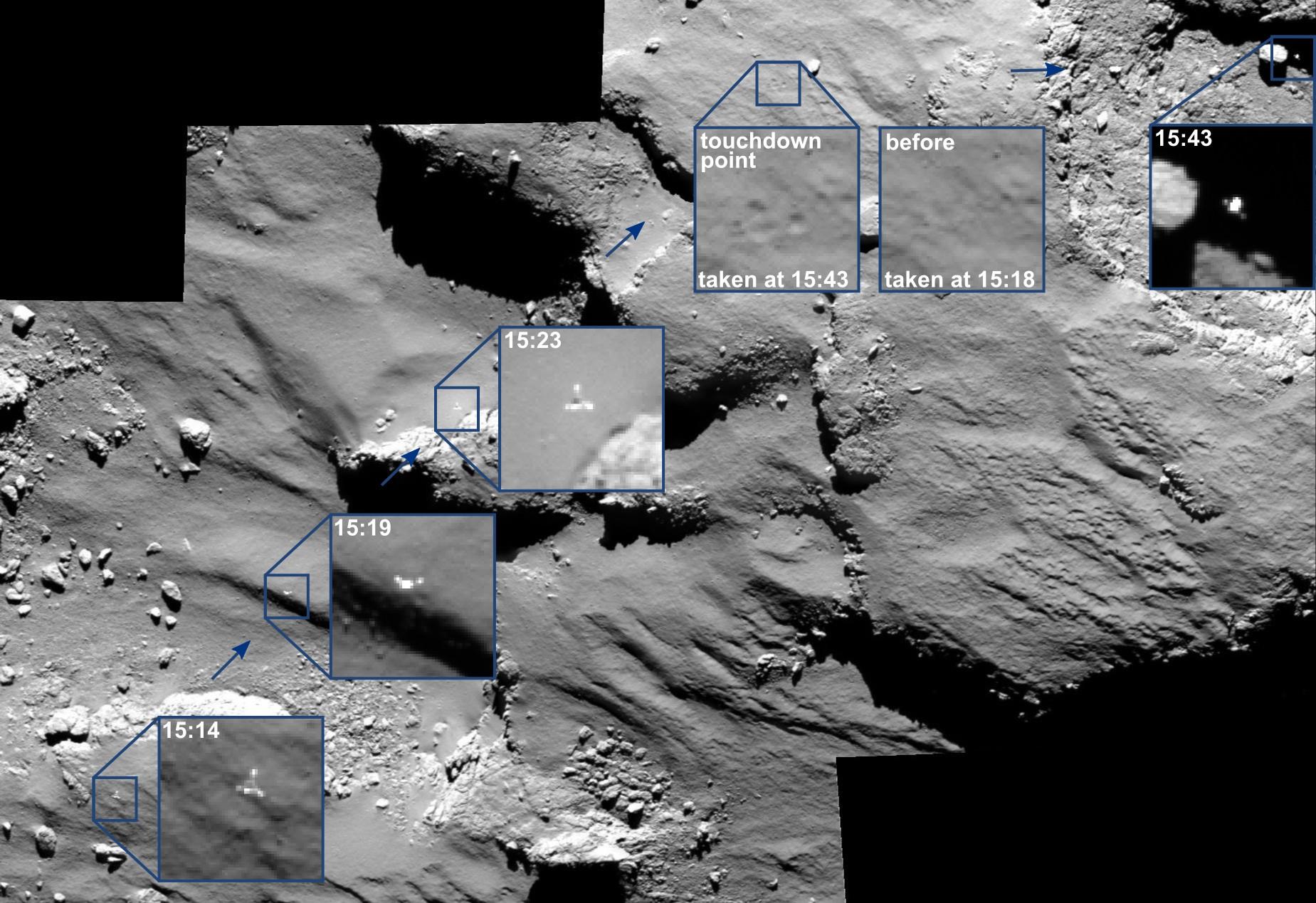 Last pictures of Rosetta
