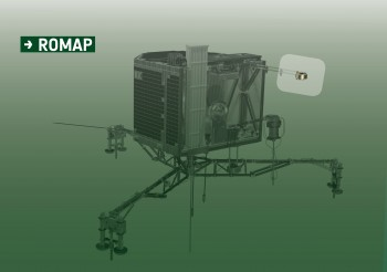 ROMAP's location on the Philae lander. Credits: ESA