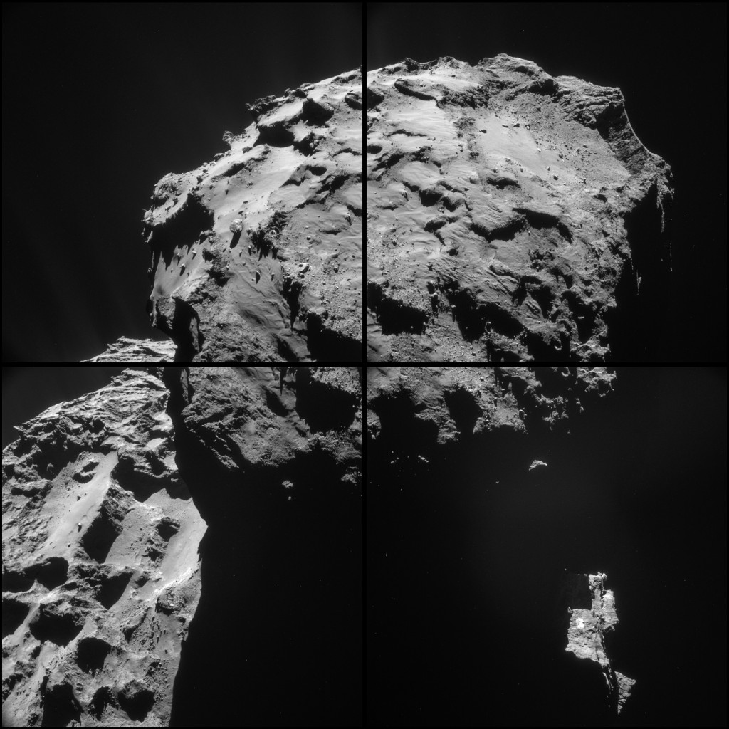 Montage of the 7 December NAVCAM images  Credits: ESA/Rosetta/NAVCAM – CC BY-SA IGO 3.0
