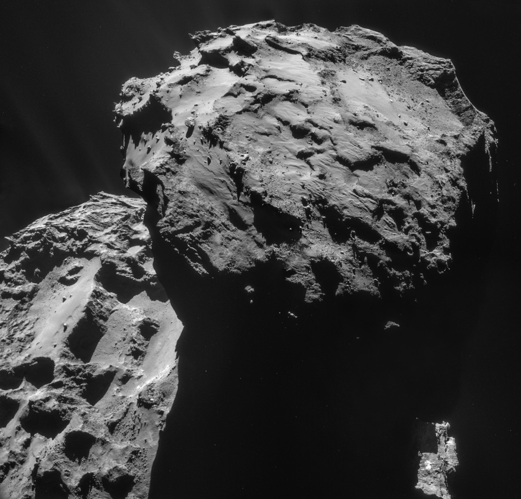 Four image NAVCAM mosaic comprising images taken on 7 December 2014. Credits: ESA/Rosetta/NAVCAM – CC BY-SA IGO 3.0