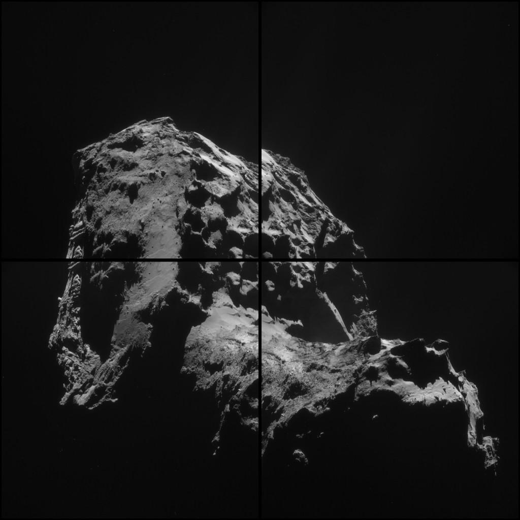 Montage of the 1 January 2015 images.  Credits: ESA/Rosetta/NAVCAM – CC BY-SA IGO 3.0