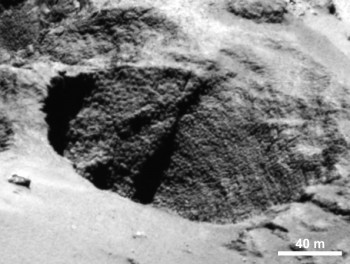 "Example of the mysterious features nicknamed ""goosebumps"". Credits: ESA/Rosetta/MPS for OSIRIS Team MPS/UPD/LAM/IAA/SSO/INTA/UPM/DASP/IDA"