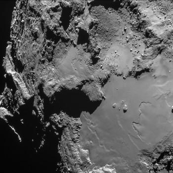 Single frame NAVCAM image taken at 16:12 UT on 14 February. Credits: ESA/Rosetta/NAVCAM – CC BY-SA IGO 3.0